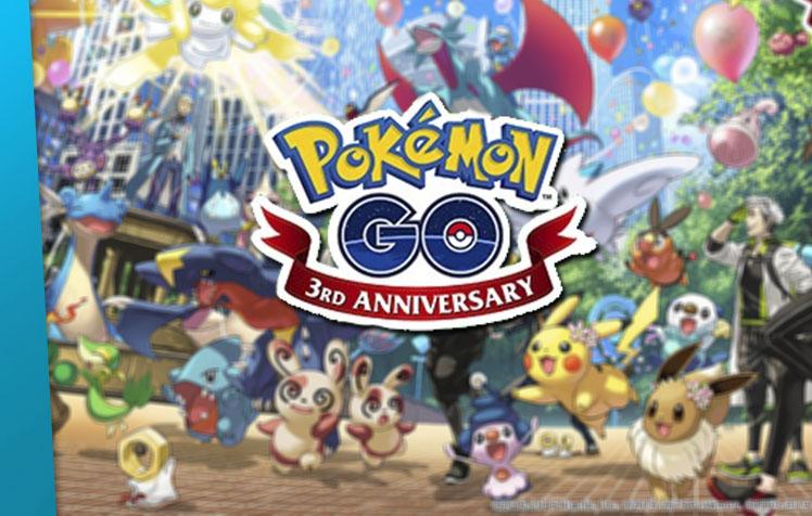 Feliz aniversário, Pokémon GO!