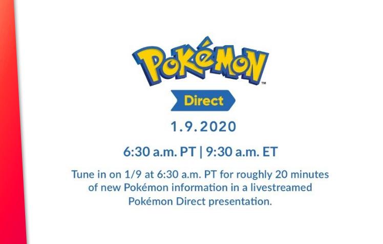 Novo Pokémon Direct programado para 9 de janeiro